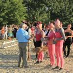 Themenvoltigier- Wettbewerb mit Kostüm auf dem Holzpferd, Oldiegruppen